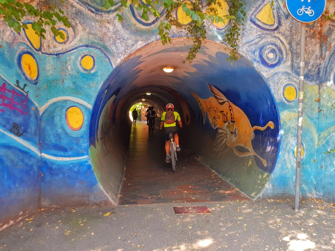 Tunnel pista ciclabile san lazzaro bologna